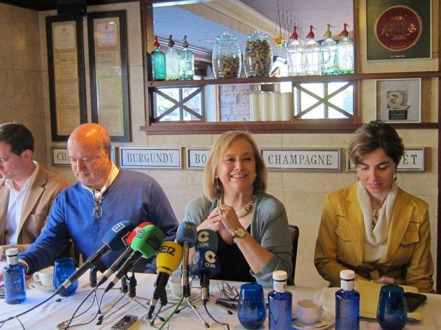 Luis Venta, Mercedes Fernández y Emma Ramos, PP de Asturias