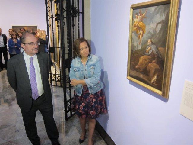 """Lambán y Mayte Pérez presenta la obra de Goya 'El éxtasis de San Antonio Abad"""""""