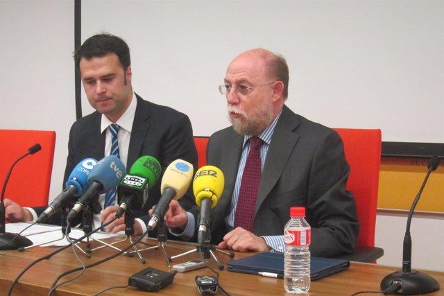 José Antonio Campos y Vicente Alonso, del Sindicato Médico