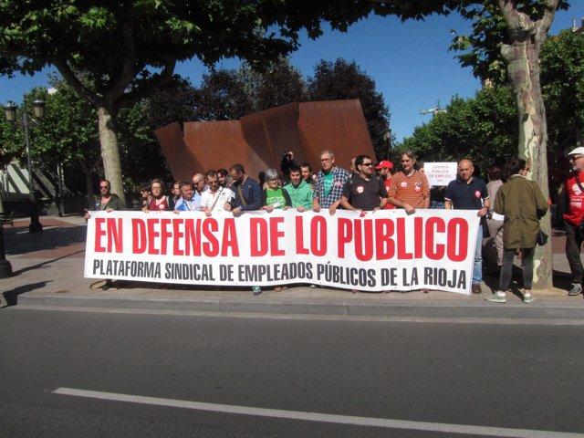 Imagen de la concentración de funcionarios