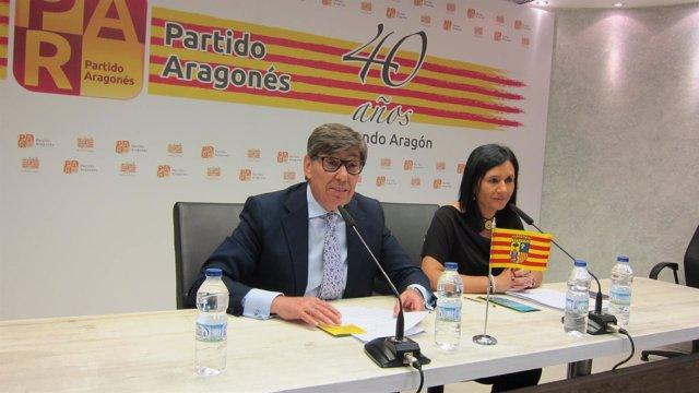 Arturo Aliaga y Carmen Herrero, del PAR