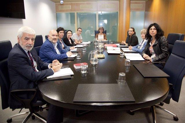 Reunión de la ponencia de memoria y paz del parlamento vasco