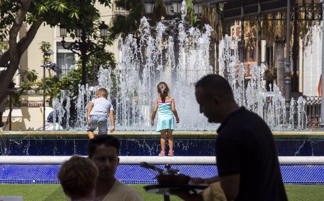 Ola de calor en Huelva
