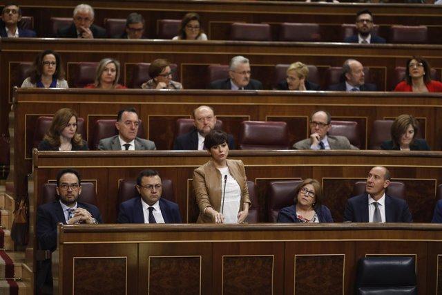 Isabel Rodríguez en la sesión de control al Gobierno en el Congreso