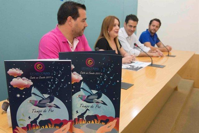 Presentación del concierto del proyecto Luna