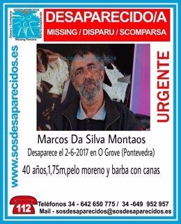 Marcos da Silva, desaparecido en O Grove (Pontevedra)