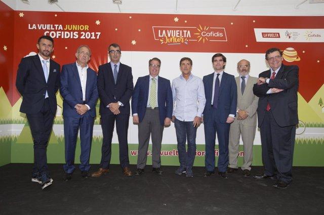 Javier Guillén, López Cerrón, De Santos y Jaime González en Vuelta Junior