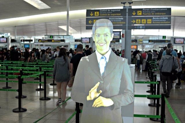Asistente virtual en el Aeropuerto de Barcelona-El Prat
