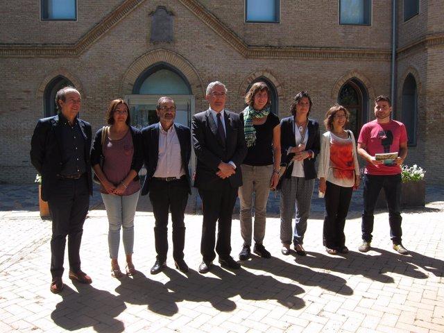 Olona y Artigas han firmado el acuerdo en el Espacio Alfranca