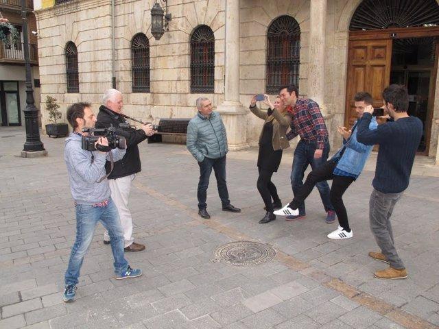 Grabación del mannequin challenge de Teruel