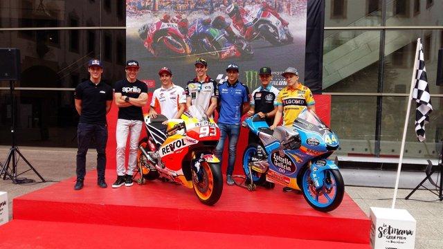 Presentación del Gran Premio de Catalunya de Motociclismo