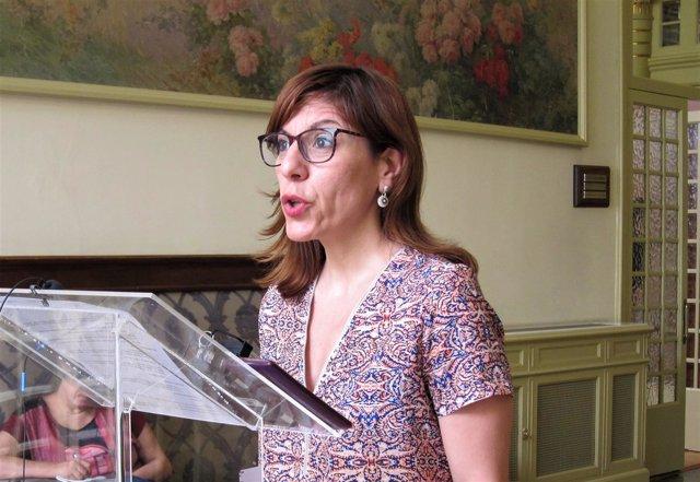 Laura Camargo tras la junta de portavoces