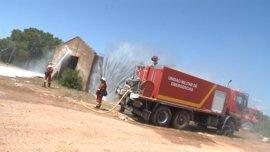 """El operativo contra incendios de la UME en Bétera, """"listo y a punto"""" para actuar"""