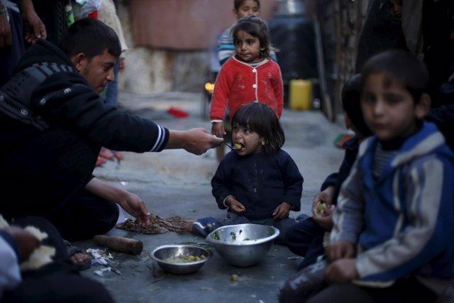 Niños palestinos en Gaza