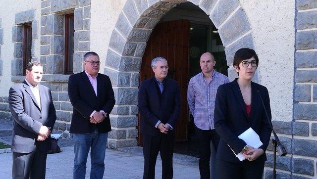 Reunión de la Mesa de las Cortes de Aragón en Boltaña (Huesca)