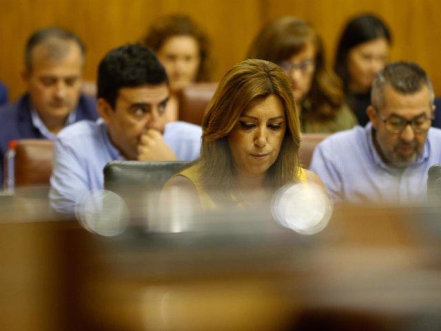 Susana Díaz, en el Parlamento de Andalucía
