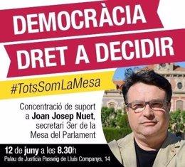 Camapaña de apoyo a Joan Josep Nuet