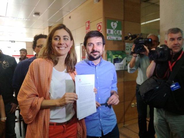 Lorena Ruiz-Huerta y Ramón Espinar