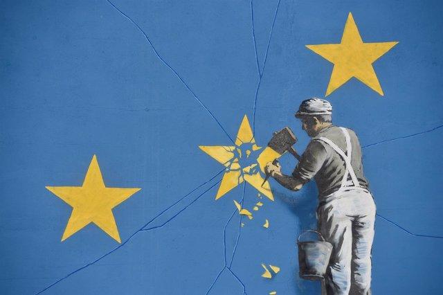 Mural de Banksy sobre el Brexit