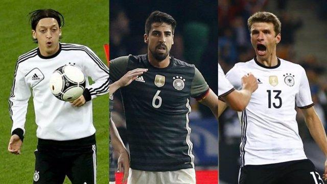 Ozil, Khedira y Muller con la selección alemana