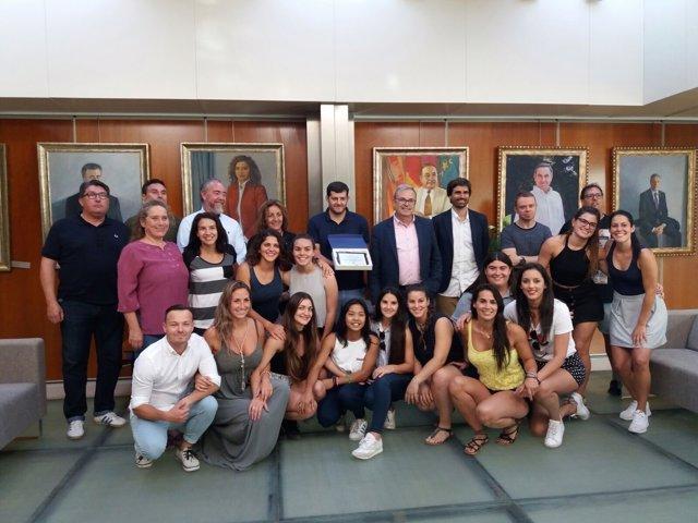 Homenaje al equipo de balonmano Puig de en Valls