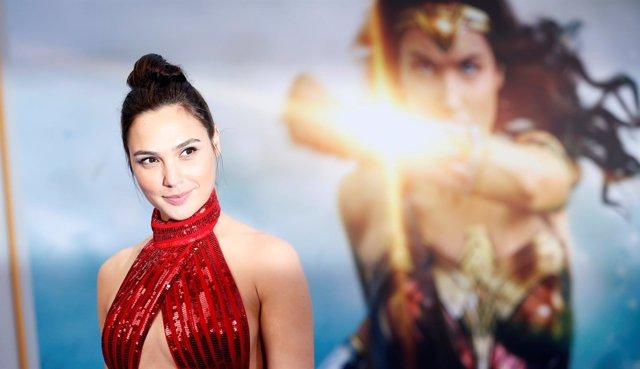 La actriz Gal Gadot durante el estreno de 'Wonder Woman' en Los Angeles