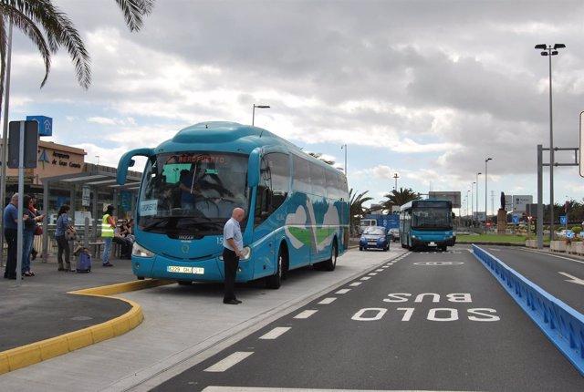 Parada de autobús en Gran Canaria