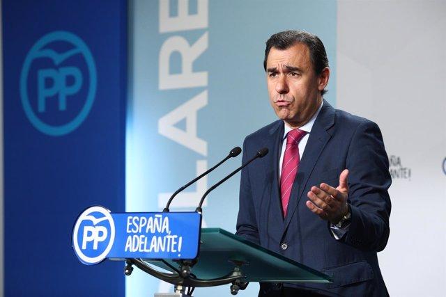 Rueda de prensa de Fernando Martínez Maíllo en la sede del PP