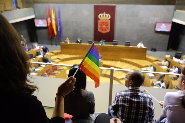El Parlamento de Navarra aprueba la ley de igualdad del colectivo LGTBI+.