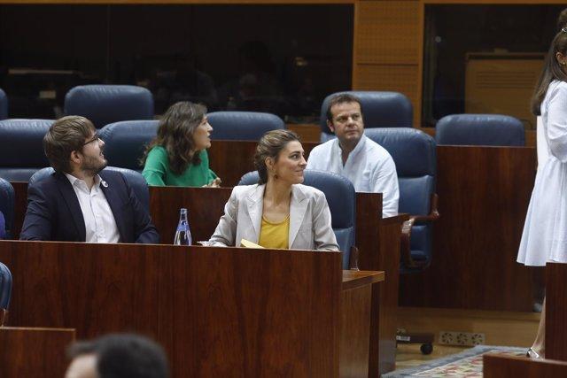 Lorena Ruiz-Huerta en el debate de la moción de censura contra Cifuentes