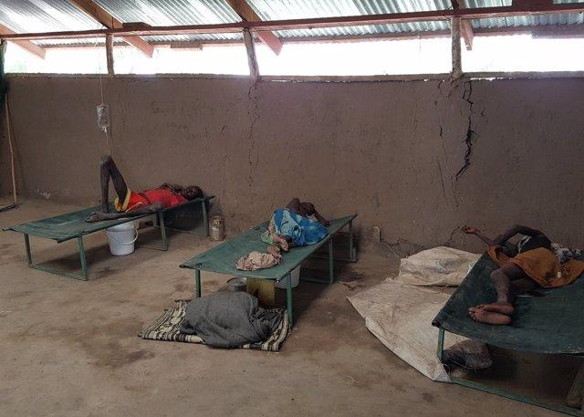 Centro de tratamiento contra el cólera de MSF en Pieri