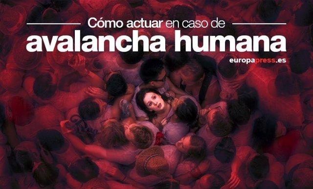Avalancha humana