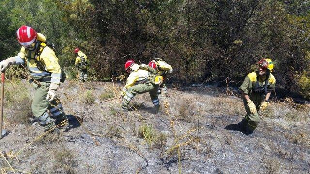 Incendio, bomberos