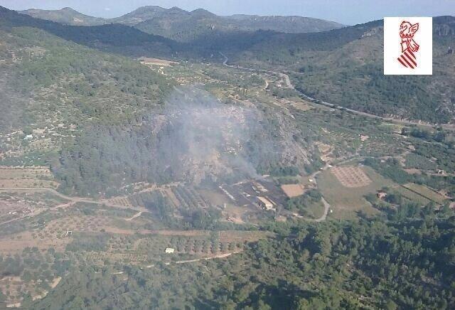 Incendio en el Parque Natural Sierra Espadán