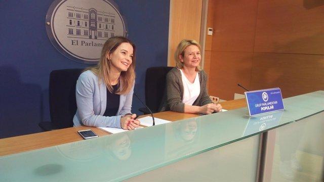 Margalida Prohens y Núria Riera