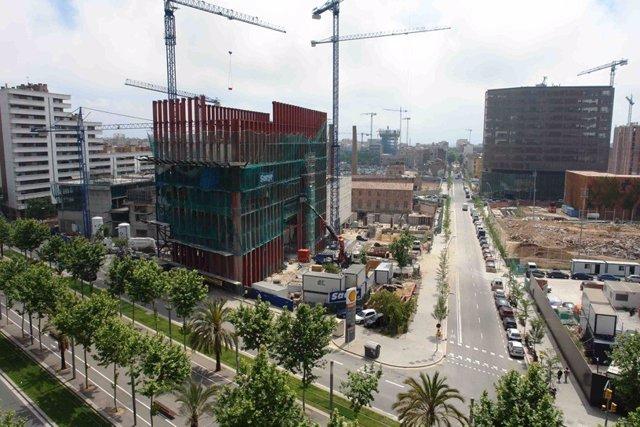 Barrio del 22@ de Barcelona, en el Poblenou. Cluster tecnológico de la ciudad