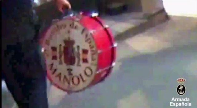 La Armada Española encuentra el bombo de 'Manolo el del bombo'