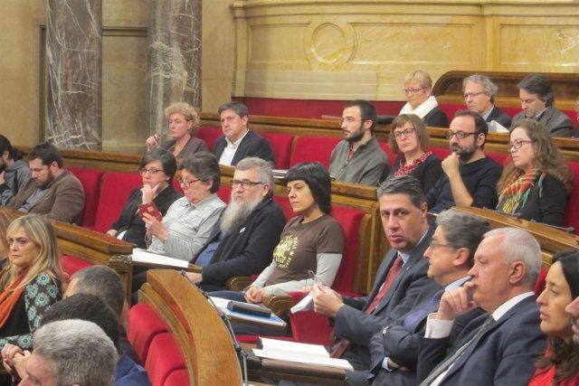 Diputados de la CUP en el Parlament
