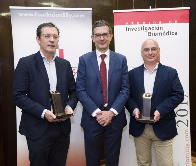 Luis Paz-Ares y Francisco Martínez Mojica, premiados por la Fundación Lilly