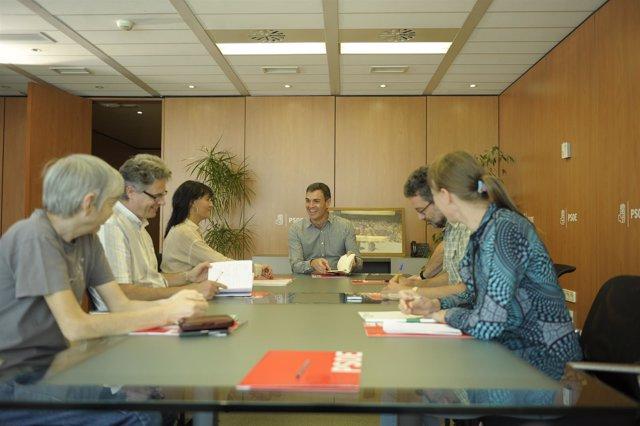 Pedro Sánchez con organizaciones ecologistas