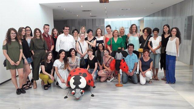 Inauguración en el Museo de Almería de la exposición 'La mariquita Juanita'