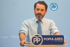 """El PP afirma que Susana Díaz """"ha ayudado"""" a que en Málaga haya """"más camas sanitarias privadas que públicas"""""""