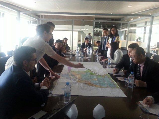 Visita de la delegación china a Plaza