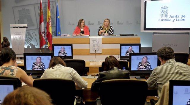 Marcos y Del Olmo tras el Consejo de Gobierno