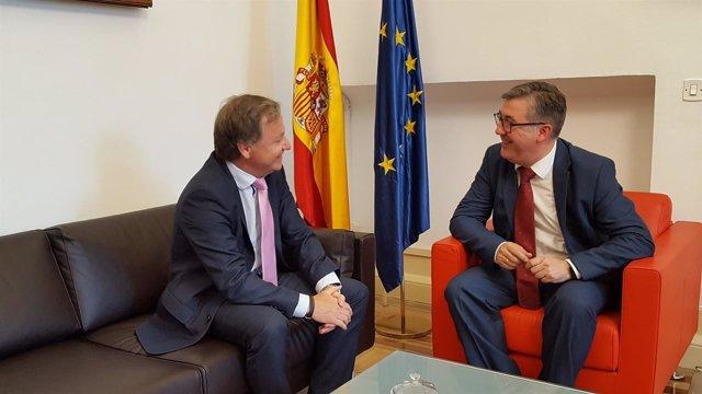 Marcial Marín reunido con Moragues