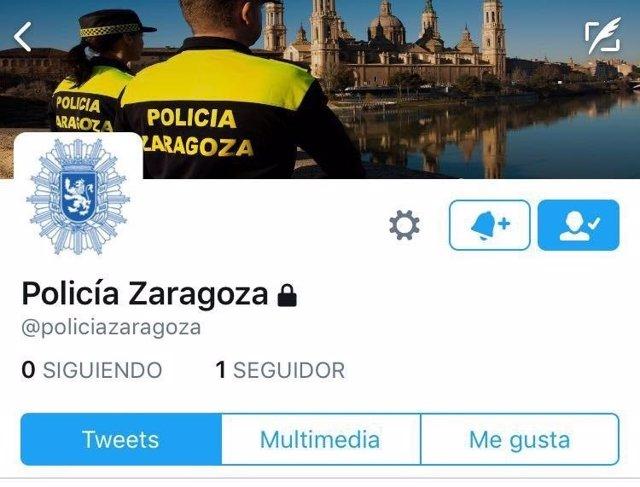 Nuevo perfil de la Policía Local de Zaragoza en Twitter