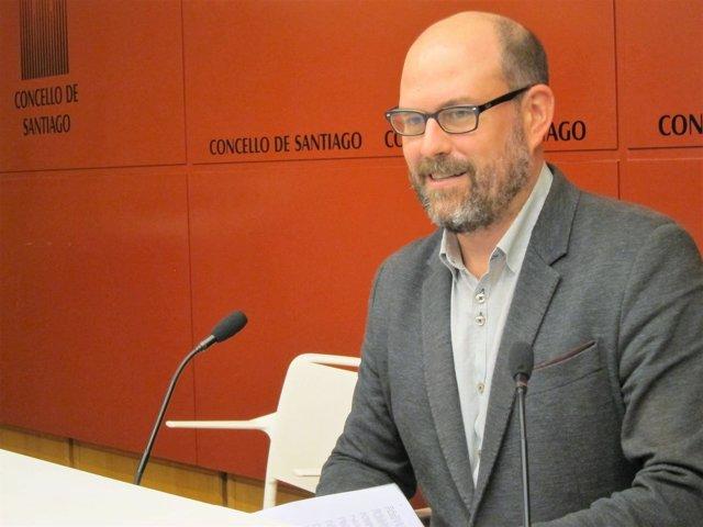 El regidor compostelano, Martiño Noriega