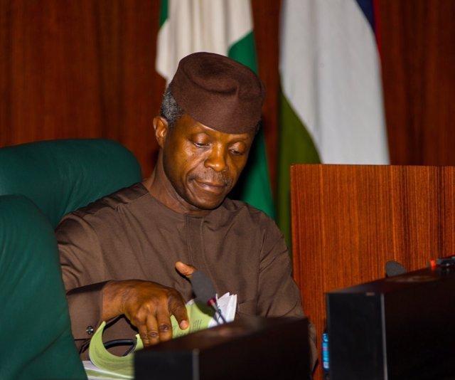 El vicepresidente y presidente en funciones de Nigeria, Yemi Osinbajo