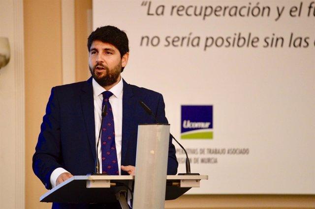 López Miras en acto Ucomur