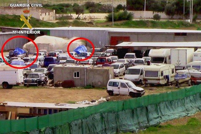 Operación antidroga en Melilla, Barcelona y Málaga